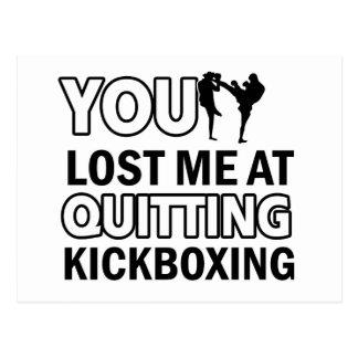 Diseños de Kickboxing Postales