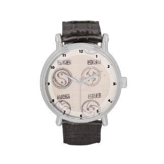Diseños de Koloman Moser- para las broches de plat Reloj