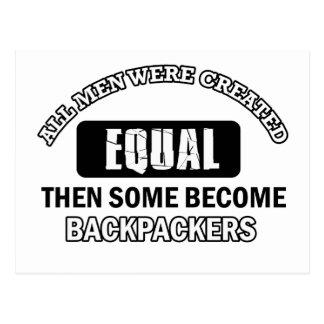 Diseños de la afición de los Backpackers Tarjeta Postal