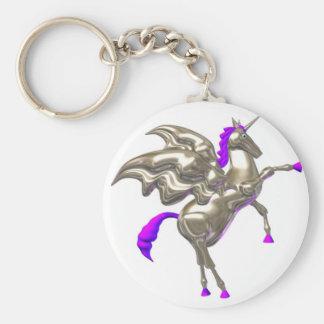 Diseños de la amistad del caballo de vuelo de llavero redondo tipo pin