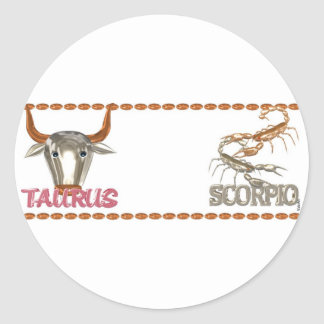 Diseños de la amistad del zodiaco del escorpión etiquetas redondas