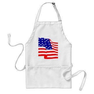 diseños de la bandera americana delantales