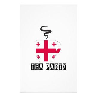 Diseños de la bandera de Georgia Papelería