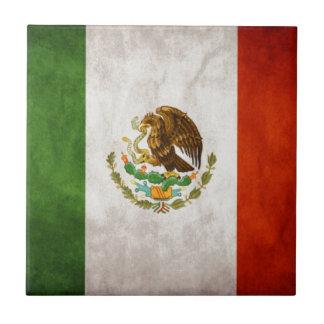 Diseños de la bandera mexicana azulejo cuadrado pequeño