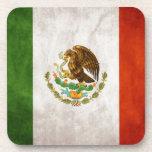 Diseños de la bandera mexicana posavasos de bebida