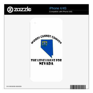 Diseños de la bandera y del mapa del estado de iPhone 4 calcomanía