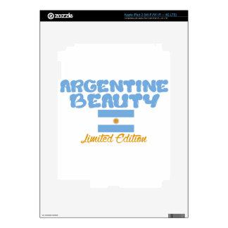 Diseños de la belleza de Argentina iPad 3 Pegatina Skin