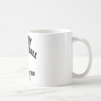 Diseños de la bola del voleo taza de café