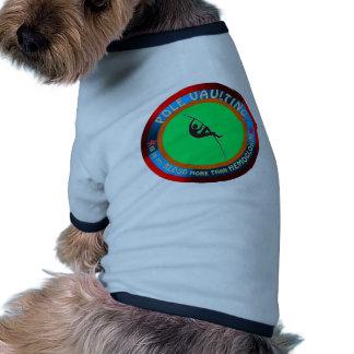 Diseños de la bóveda de poste camiseta con mangas para perro