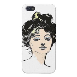 Diseños de la cabeza del chica de Gibson iPhone 5 Carcasa