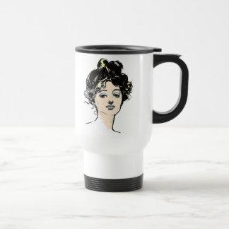 Diseños de la cabeza del chica de Gibson Taza De Viaje