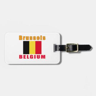 Diseños de la capital de Bruselas Bélgica Etiquetas Bolsas