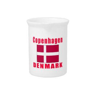Diseños de la capital de Copenhague Dinamarca Jarras Para Bebida