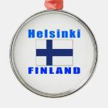 Diseños de la capital de Helsinki Finlandia Ornamento Para Arbol De Navidad