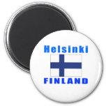 Diseños de la capital de Helsinki Finlandia Imán