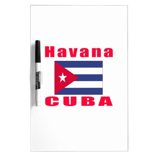 Diseños de la capital de La Habana Cuba Pizarras Blancas De Calidad