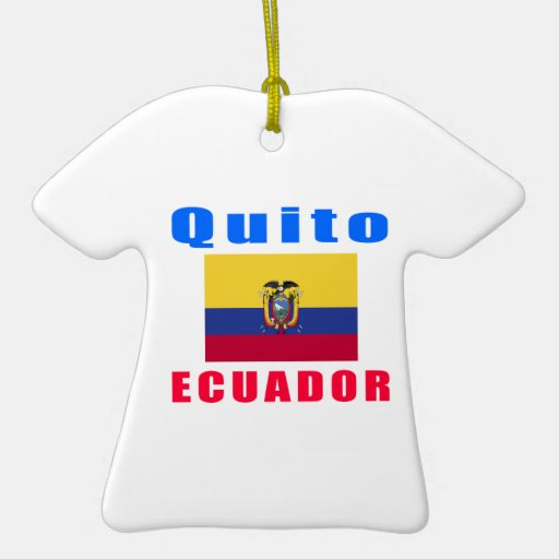 Diseños de la capital de Quito Ecuador Adorno De Cerámica En Forma De Camiseta