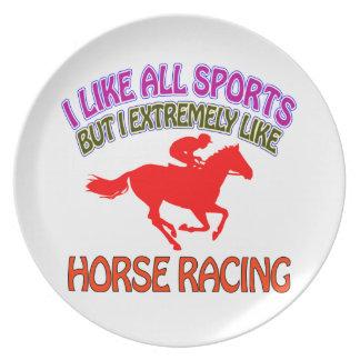 Diseños de la carrera de caballos platos para fiestas