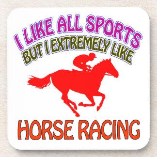 Diseños de la carrera de caballos posavasos de bebidas
