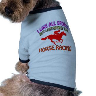 Diseños de la carrera de caballos camisa de mascota