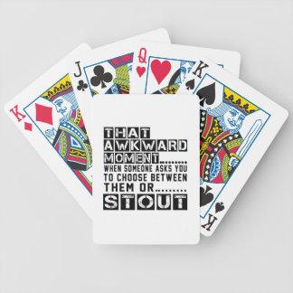 Diseños de la cerveza de malta baraja cartas de poker