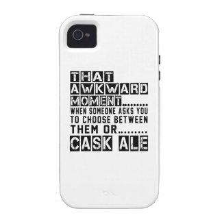Diseños de la cerveza inglesa del barril Case-Mate iPhone 4 funda
