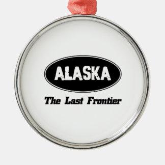 DISEÑOS de la ciudad de ALASKA Adorno Navideño Redondo De Metal