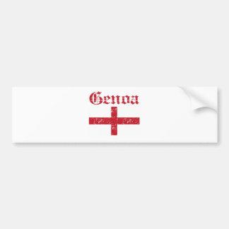 Diseños de la ciudad de Génova Etiqueta De Parachoque