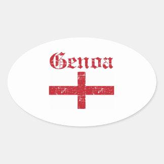 Diseños de la ciudad de Génova Pegatina Ovalada