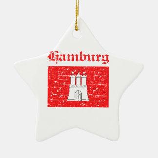 Diseños de la ciudad de Hamburgo Adorno De Cerámica En Forma De Estrella