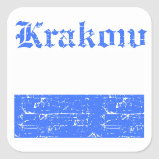 Diseños de la ciudad de Kraków Pegatina Cuadrada
