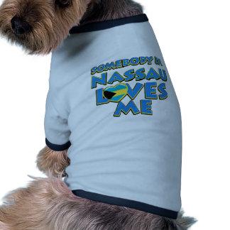 Diseños de la ciudad de la bandera de Nassau Camiseta Con Mangas Para Perro