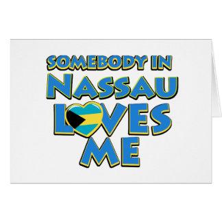 Diseños de la ciudad de la bandera de Nassau Tarjeta De Felicitación