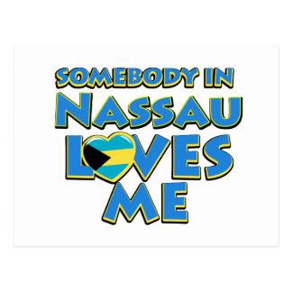 Diseños de la ciudad de la bandera de Nassau Tarjeta Postal