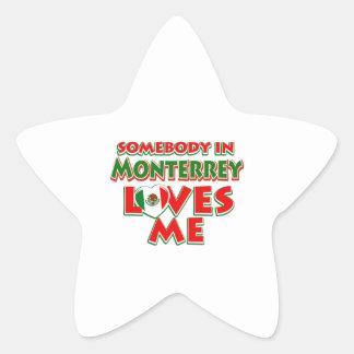 Diseños de la ciudad de Monterrey Pegatina En Forma De Estrella