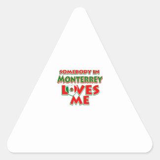 Diseños de la ciudad de Monterrey Pegatina Triangular