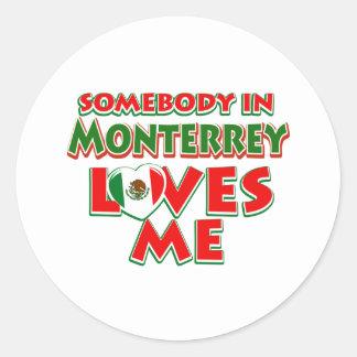 Diseños de la ciudad de Monterrey Pegatina Redonda