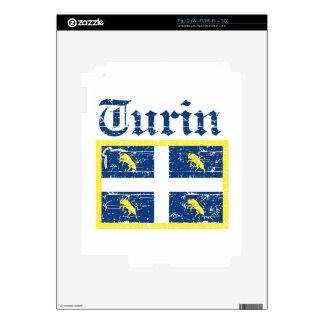 Diseños de la ciudad de Turín iPad 2 Calcomanía
