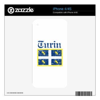Diseños de la ciudad de Turín iPhone 4S Calcomanías