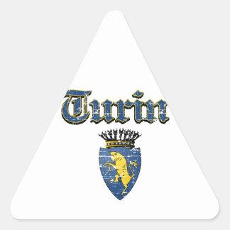 Diseños de la ciudad de Turín Pegatina Triangular