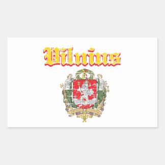 diseños de la ciudad de Vilna Rectangular Pegatinas