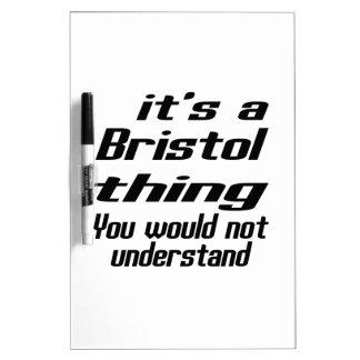 Diseños de la cosa de Bristol Tablero Blanco
