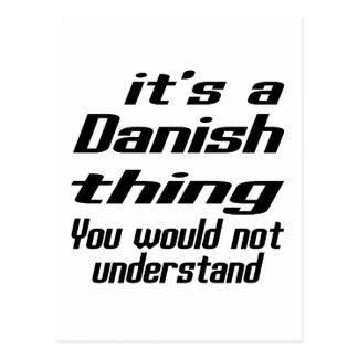 Diseños de la cosa del danés o del danés tarjetas postales