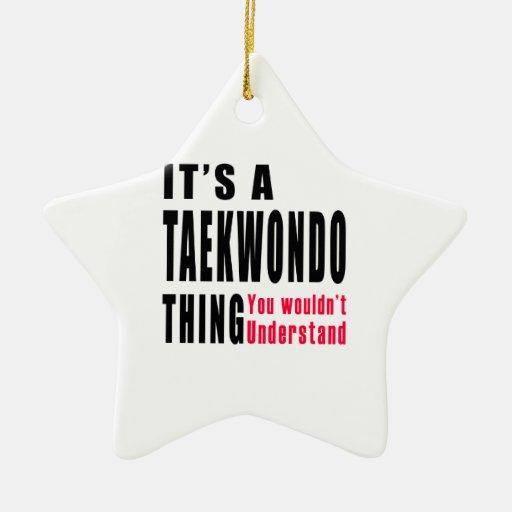 Diseños de la cosa del Taekwondo Adornos De Navidad