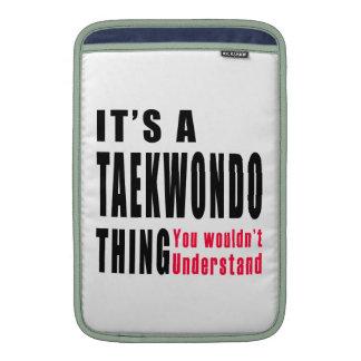 Diseños de la cosa del Taekwondo Fundas Para Macbook Air