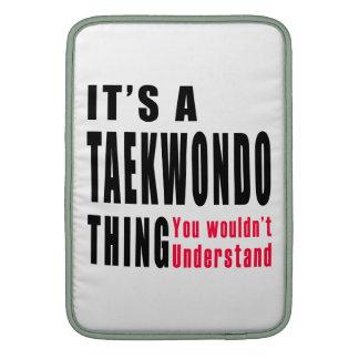 Diseños de la cosa del Taekwondo Fundas Macbook Air