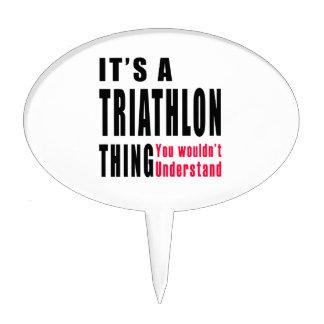Diseños de la cosa del Triathlon Decoración Para Tarta