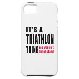 Diseños de la cosa del Triathlon iPhone 5 Carcasas