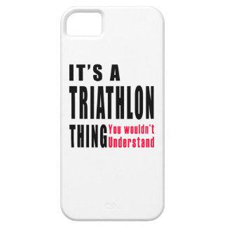 Diseños de la cosa del Triathlon iPhone 5 Cobertura