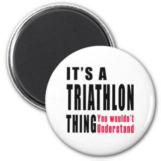 Diseños de la cosa del Triathlon Imán Redondo 5 Cm